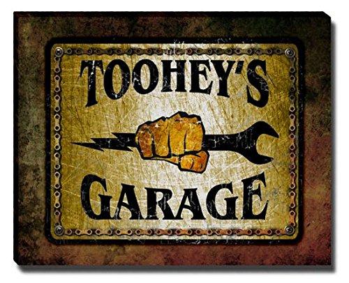 tooheys-garage-stretched-canvas-print