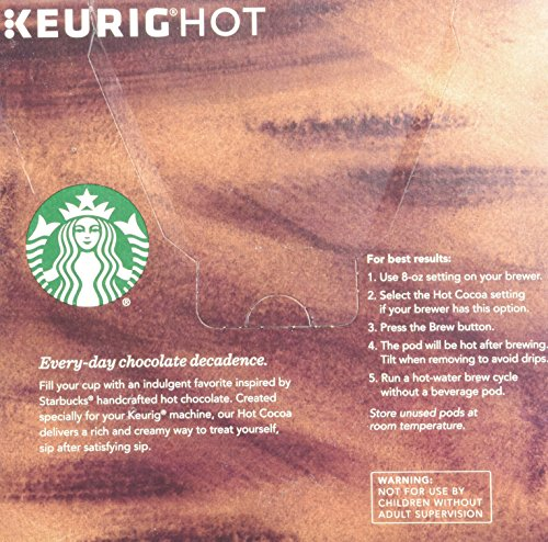 Starbucks Classic Hot Cocoa 16 K Cup Pods 2 Count Import