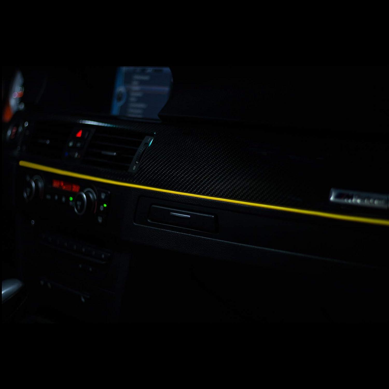 6,00/€//M Wei/ß - 2 Meter LETRONIX EL Wire Lichtleiste Ambientebeleuchtung Auto 12V Wei/ß 2 Meter
