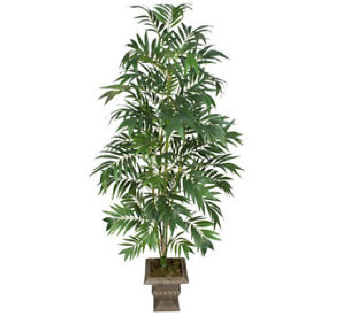 ONE 8' Bamboo Palm Artificial Trees Silk Plants 181 by Black Decor Home