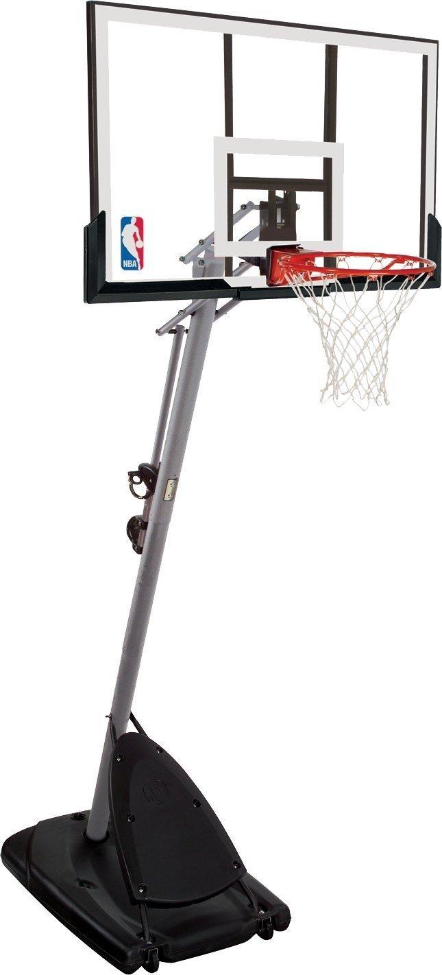 Spalding, canestro da basket NBA Gold, portatile, trasparente, 3001651010948.