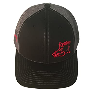 354c45331b5 Image Unavailable. Image not available for. Color  Sniper Pig Black and Red Snapback  Hat