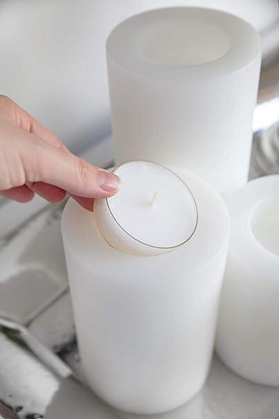 diam/ètre 10 cm r/ésistant /à la Chaleur jusqu/à 90 degr/és Hauteur 15 cm Convient aux Porte-Bougie Standard Edzard Porte-Bougie Cornelius Bougie permanente