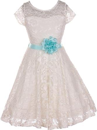 Amazon bny corner flower girl dress off white dress selection bny corner flower girl dress off white dress selection of belt flower for little girl mightylinksfo
