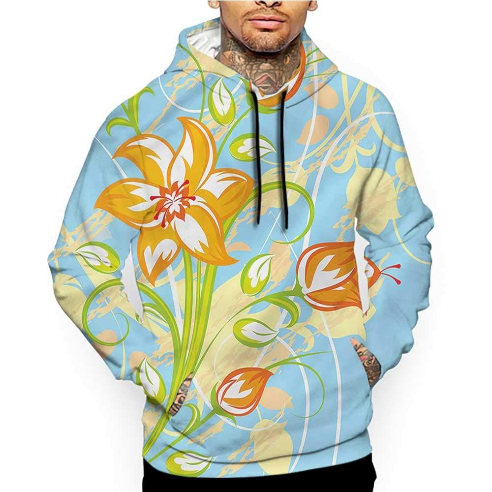 Hoodies Sweatshirt/Men 3D Print Floral,Seasonal Growth Leaves,Sweatshirts for Teen Girls