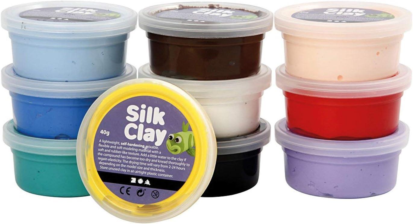 Creativ 6 x 14 g Silk Clay Assorted Colours Neon