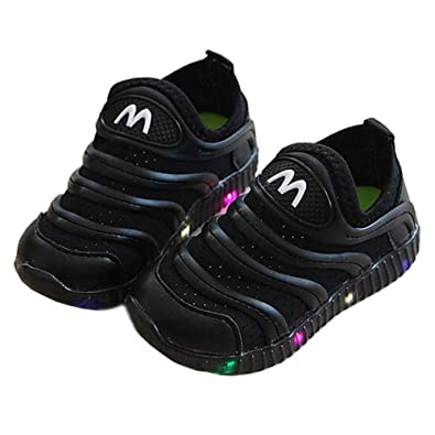 LED Light up Shoes Kids Boys Girls Breathable Slip-on Flashing Sneakers