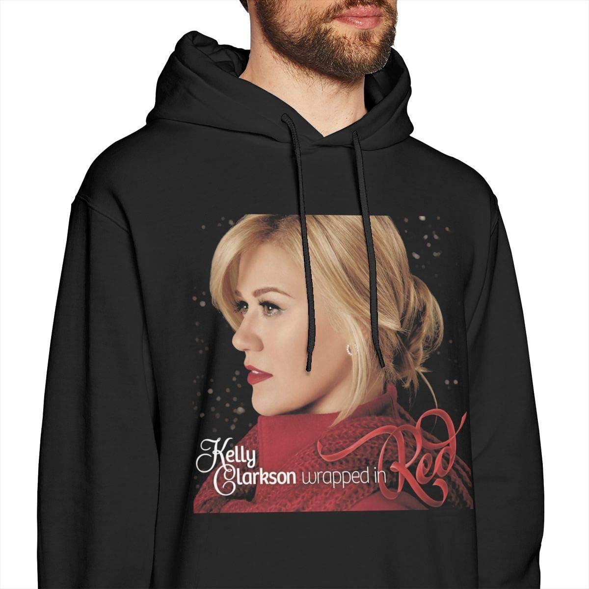PeterjPan Kelly Clarkson Wrapped in Red Sweatshirts for Men Hoodies Black