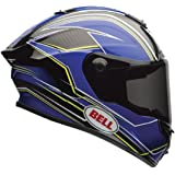 Bell Race Star Full-Face  Motorcycle Helmet (Triton Blue/Yellow, X-Large)(Non-Current Graphic)