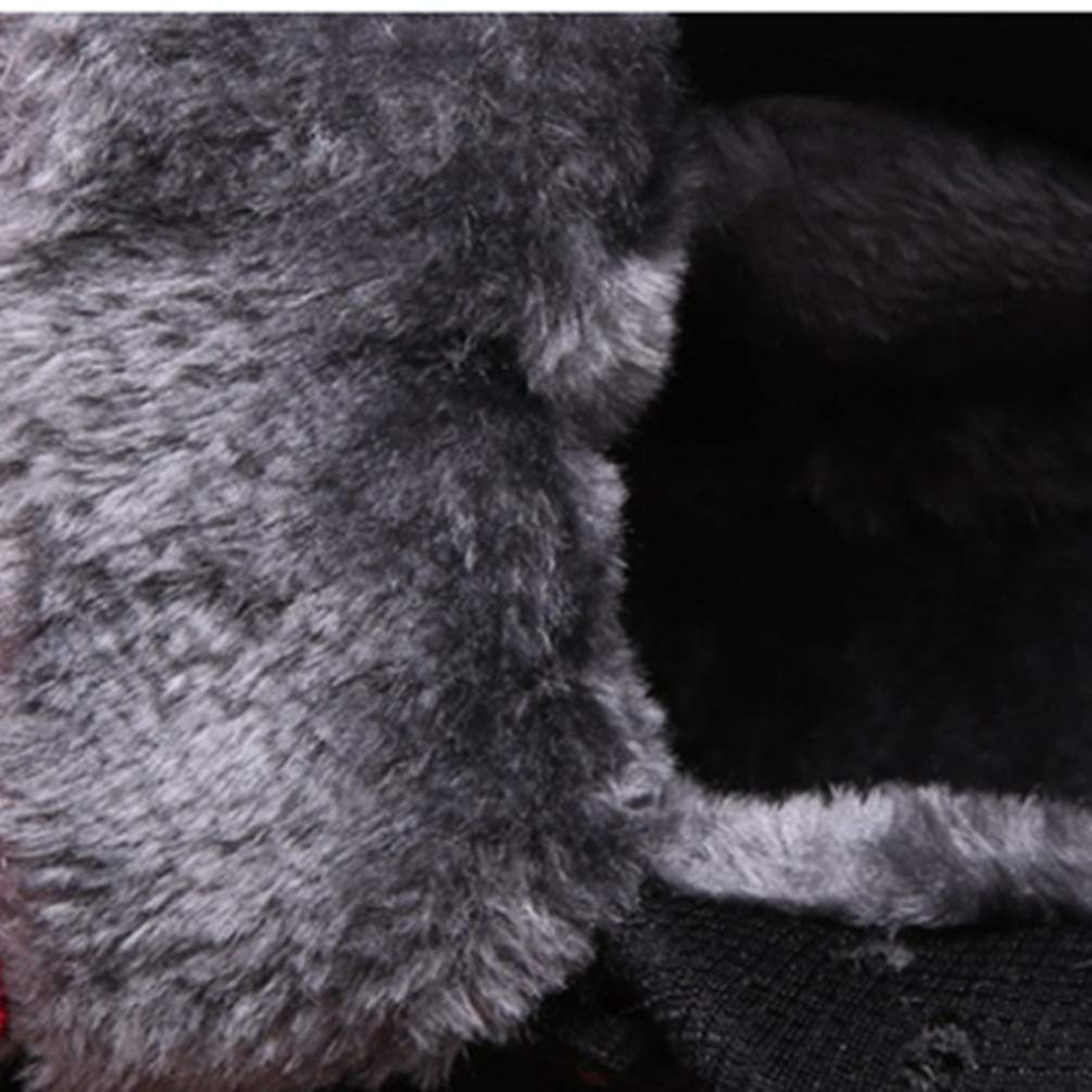 ZHRUI Unisex Turnschuhe Winter Winter Winter Plüsch Wärme Komfortable Lace-up Freien Belüftung Laufschuhe Sport Schnee Stiefel Mann Frau (Farbe   1schwarz, Größe   3=36 EU) f8fee2