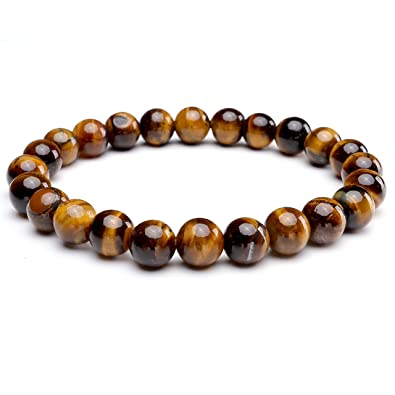 b49fb76697 Amazon.com: Top Plaza Unisex Womens 8MM Semi-Precious Gemstones ...
