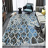 LOCHAS Premium Geometric Figure Collection Contemporary Non-Slip/Anti-Static Area Rugs for Living Room Bedroom Dining Room Runner Floor Rug, 5' X 7.5'
