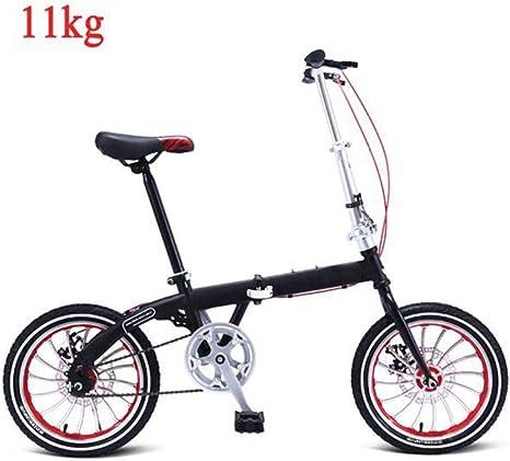 LCYFBE Bicicleta Plegable Mujer Ligera 16 Pulgadas Bicicleta Plegable Hombres Bicicleta Plegable Hecha de Aluminio, Bicicleta Urbana Bicicleta para Hombres Aluminio, Plegable, Ajustable 11 kg: Amazon.es: Deportes y aire libre