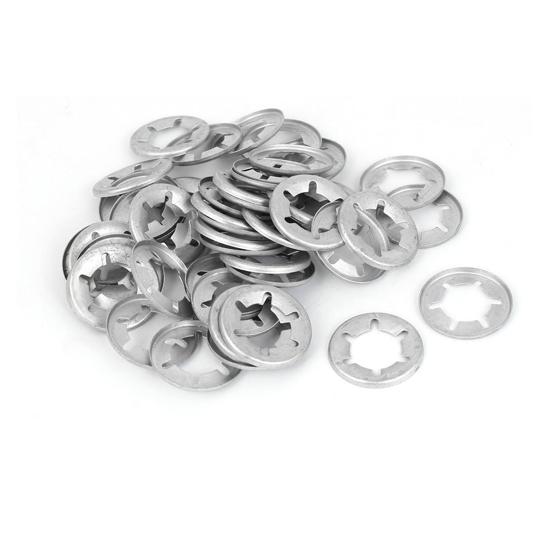 304 Stainless Steel Pack of 20 uxcell M16 Starlock Washer 15.3mm I.D 28mm O.D Internal Tooth Lock Washers Push On Locking Speed Clip