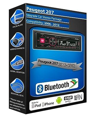 Peugeot 207 car radio Alpine UTE-72BT Bluetooth: Amazon.co.uk ...