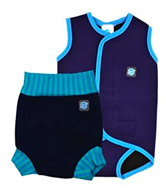 Splash About Boys Baby Wrap And Matching Happy Nappy Small Wrap 0
