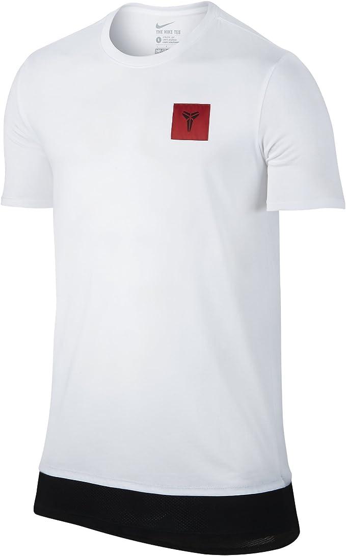 Nike Men's Kobe XI Drop Tail Dri FIT T Shirt WhiteBlack