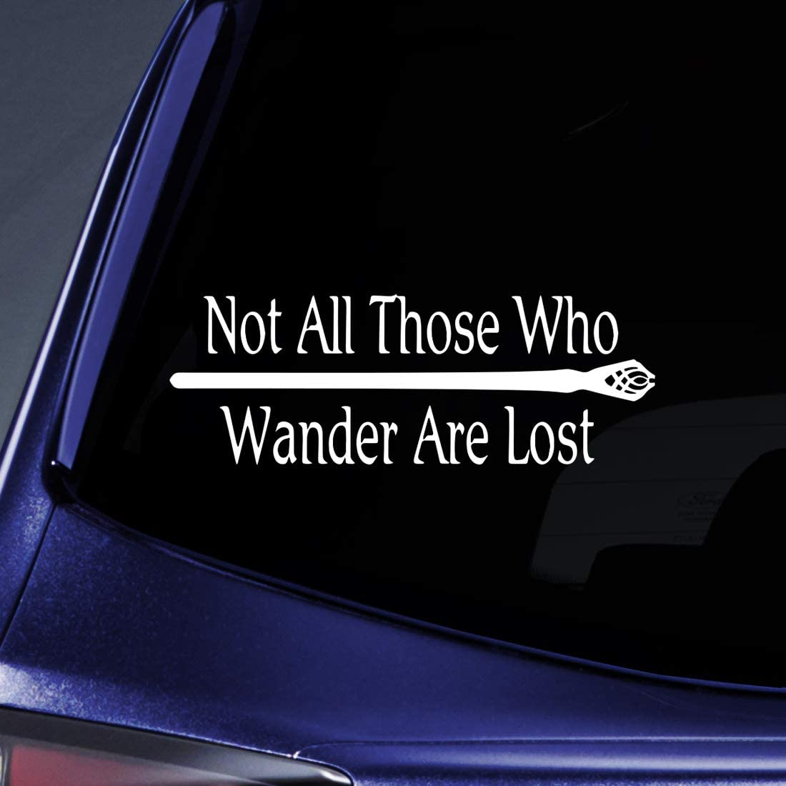 Bargain Max Decals - LOTR Not All Those Who Wander are Lost Sticker Decal Notebook Car Laptop 8