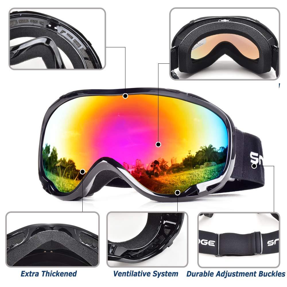 49997ffcf70 HUBO SPORTS Ski Snow Goggles for Men Women Adult