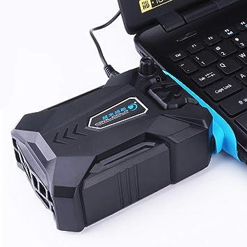 MENUDOWN Aspiradora Portátil Refrigerador USB Aire Extractor Externo Ventilador De Refrigeración para La Velocidad del Ordenador Portátil Ajustable para 15 ...