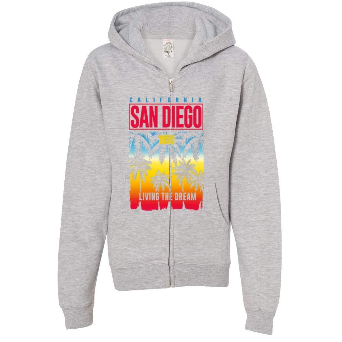 San Diego Living The Dream Premium Youth Zip-Up Hoodie