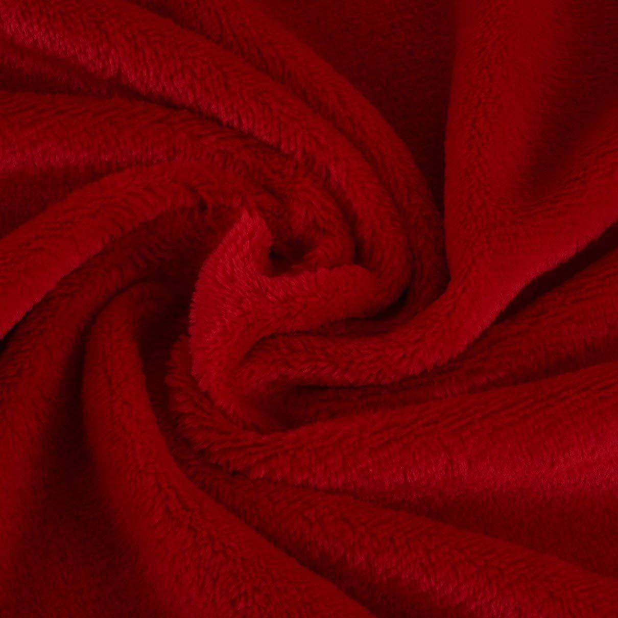 70x100CM Coperta di Flanella Super Morbida da Tenere in Caldo Tinta Unita per divani in Tinta Unita Biancheria da Letto per Ufficio Coperta per Auto Tessili per la casa Nero Togames