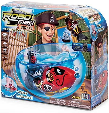 Robo Fish Pirate with Bowl and Castle