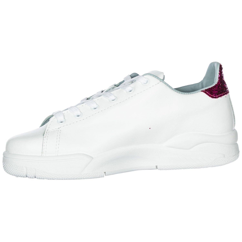 118f21ba221dc Chiara Ferragni Sneakers White Hearts FX Silver 3 CF2070-A Nuova Collezione  A I 2018-19  Amazon.it  Scarpe e borse