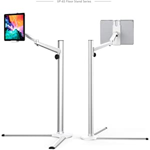 Magichold Height Adjusting Metal Bed Office Floor Stand Mount Holder for Tablets Smartphone 3 to 13 Inch, Compatible with Ipad Pro 12.9/9.7/10.5 inch, Ipad Air. ipad Mini,iPhone