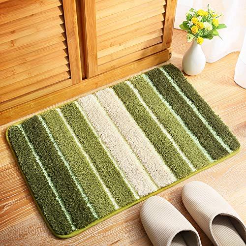 "Non Slip Bath Mat, Super Soft Bathroom and Shower Mat, Support Machine Wash (15.7×23.6"", Light Green)"
