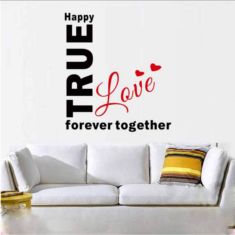 Together Forever Wall Sticker Decal Decor Bedroom Love Art Quote Home Vinyl