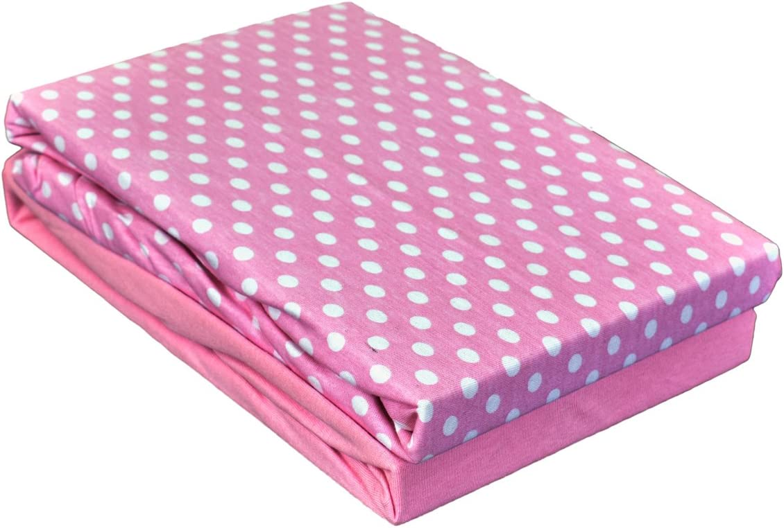 2-Piece Dudu N Girlie Cotton Cot Bed Fitted Sheets Abstract Blue 70 x 140 cm