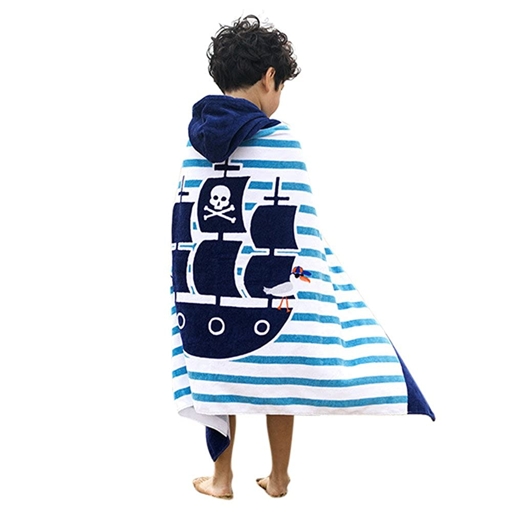 Toalla de baño con capucha Boy Girl, OKSakady Albornoz de algodón absorbente Kid Kids