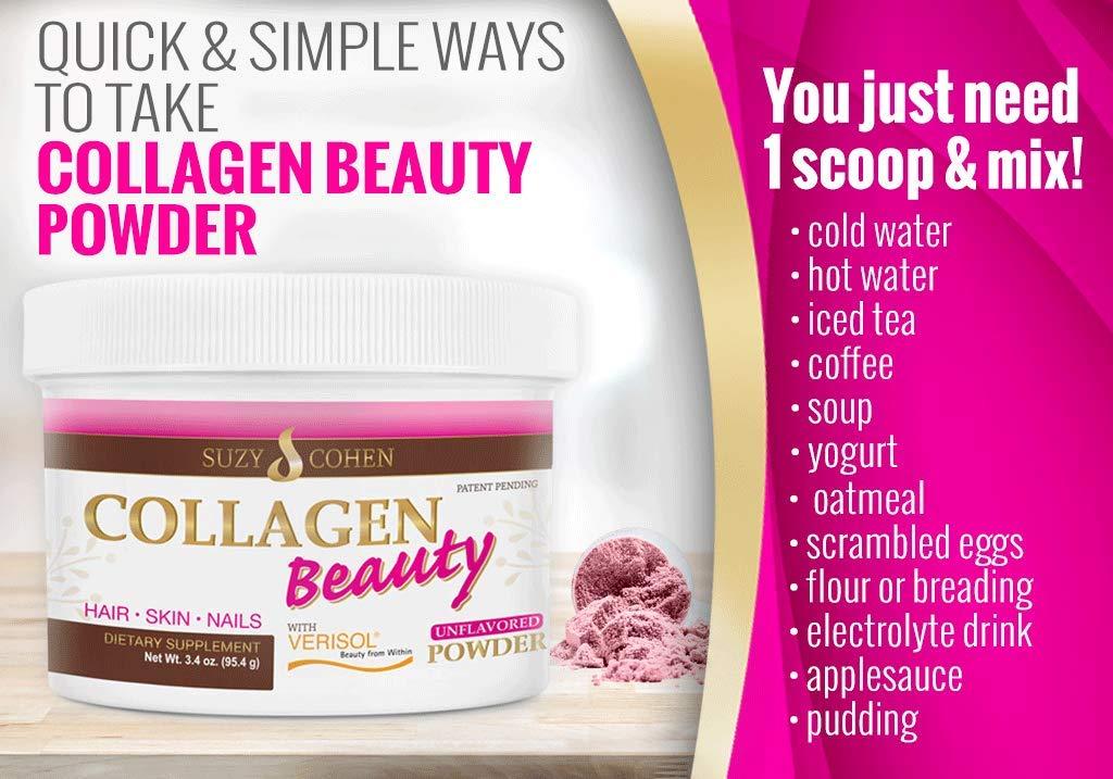 Amazon.com: Belleza de colágeno sin sabor en polvo bebida ...