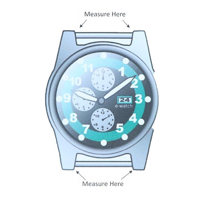 18 mm Marrón cosida a mano auténtica Alligator Correa para reloj de repuesto fabricado en Estados Unidos A154: Amazon.es: Relojes