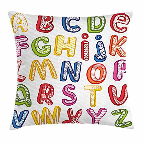 Ambesonne Educational Throw Pillow Cushion Cover, Hand Drawn