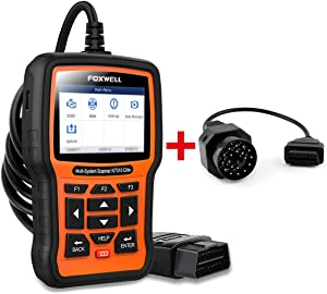 FOXWELL Car Full-System Diagnostic Tool NT510 Elite for BMW with 16Pin to 20Pin Adapter