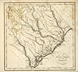 Historic 1794 Map | A map of South Carolina, from the best authorities. | United States | | Antique Vintage Map Reproduction