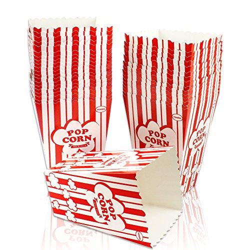 Tomnk 36pcs White & Red Paper Popcorn Cartons Popcorn Boxes for Movie Nights Party by Tomnk