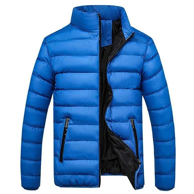 VICGREY Cappotto da Uomo Inverno, Piumino Giubbotto Stand Colletto Giacchetta Giacca Manica Lunga Felpa Uomo Elegante Caldo Invernale Cappotto Outwear