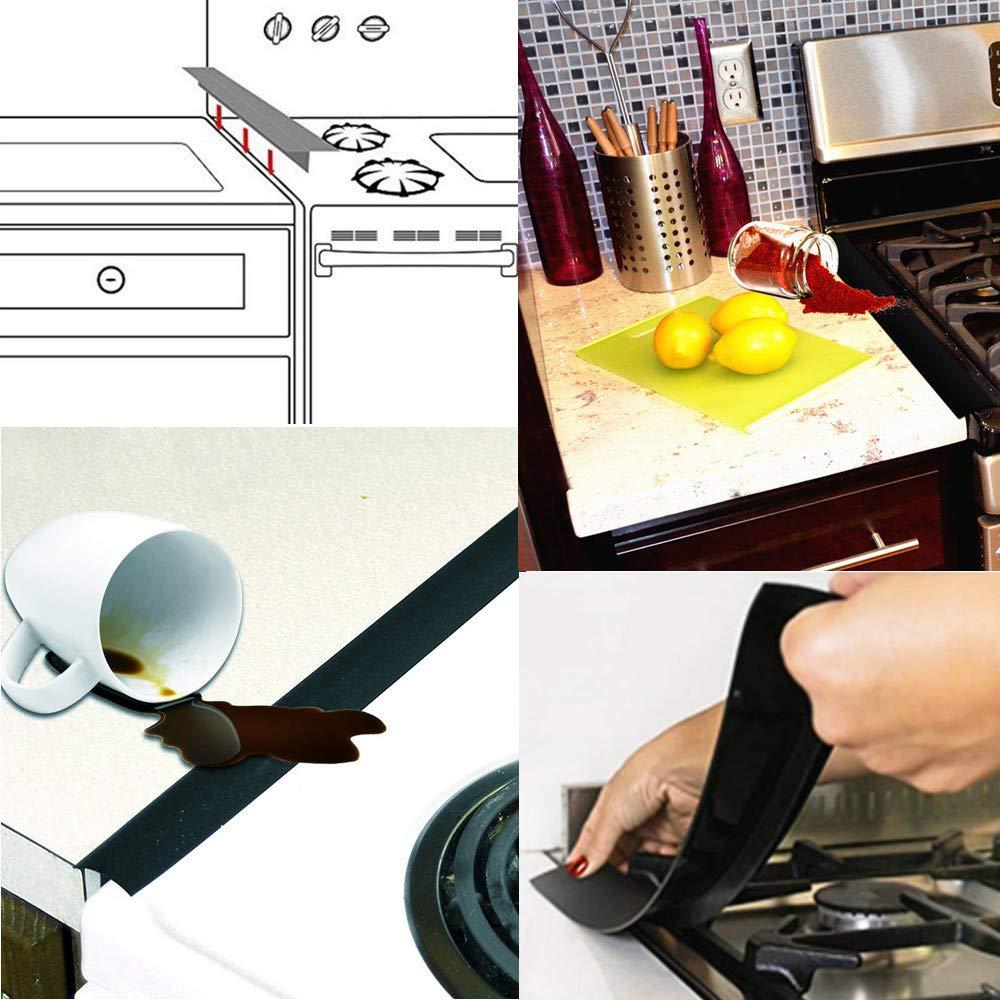 2pcs Silicone Stove Counter Gap Cover Reusable Stove Burner Covers Gap Filler Dishwasher Safe Heat-resistant for Kitchen Cooktop Accessories 10pcs Non-stick Gas Range Protectors