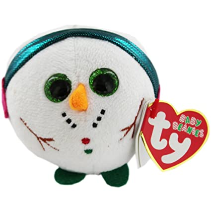 0d9dc42c9be Amazon.com  Ty Baby Beanies Chilly - Snowman  Toys   Games
