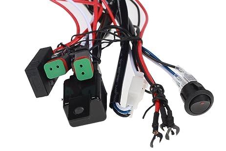 Amazon.com: top longer universal 180w led light bar wiring harness