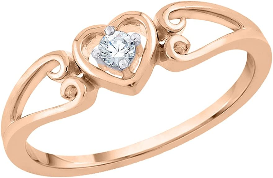 G-H,I2-I3 1//10 cttw, Diamond Wedding Band in 10K Pink Gold Size-5.25