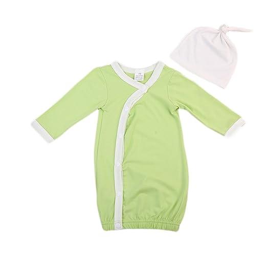 35610b154 Amazon.com  ITFABS Newborn Baby Boy Girl Nightgowns Cute Long Sleeve ...