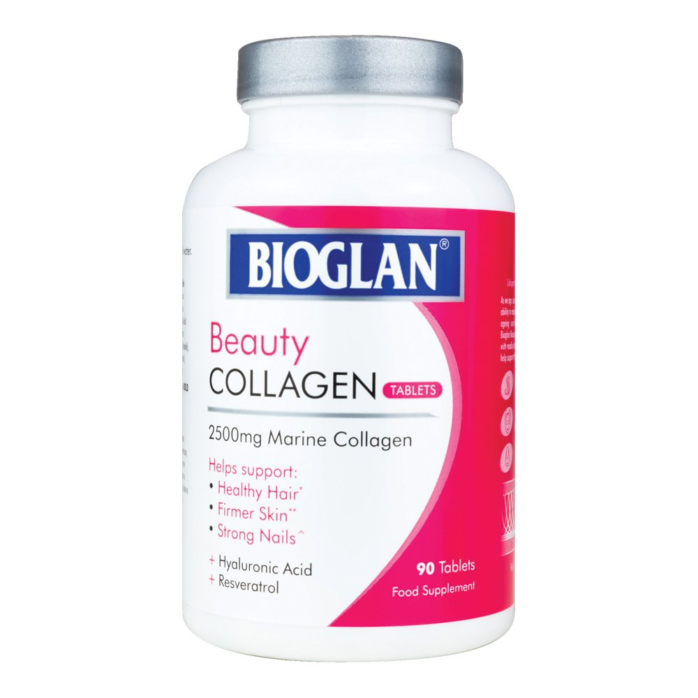 Bioglan Collagen Tablets | 2500mg | Hydrolysed Marine Collagen |Hyaluronic Acid | Resveratrol | Biotin | Selenium & Vitamin C | 90 Tablets