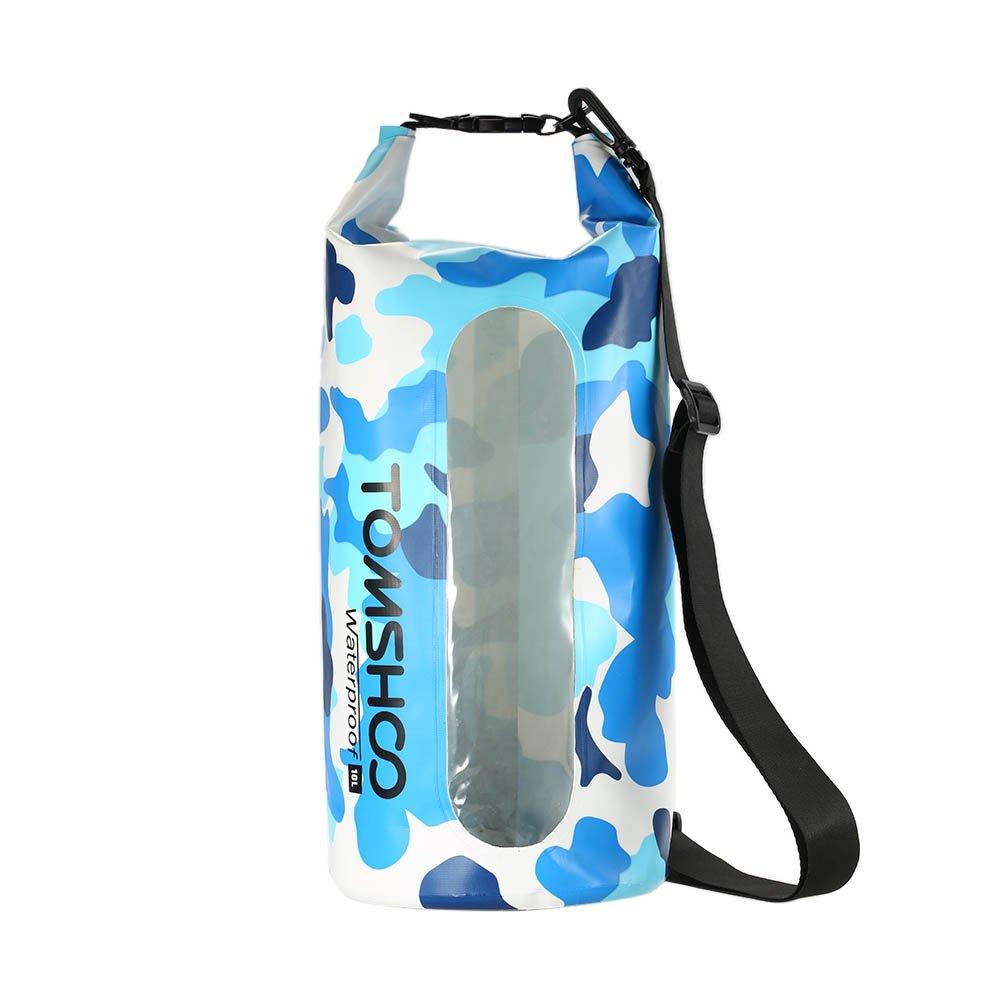 fc4fe0207e09 TOMSHOO Dry Bag Waterproof 10L   20L Outdoor Dry Sack Storage Bag for  Travelling Rafting Boating Kayaking Canoe Camping Snowboarding with  Waterproof Phone ...