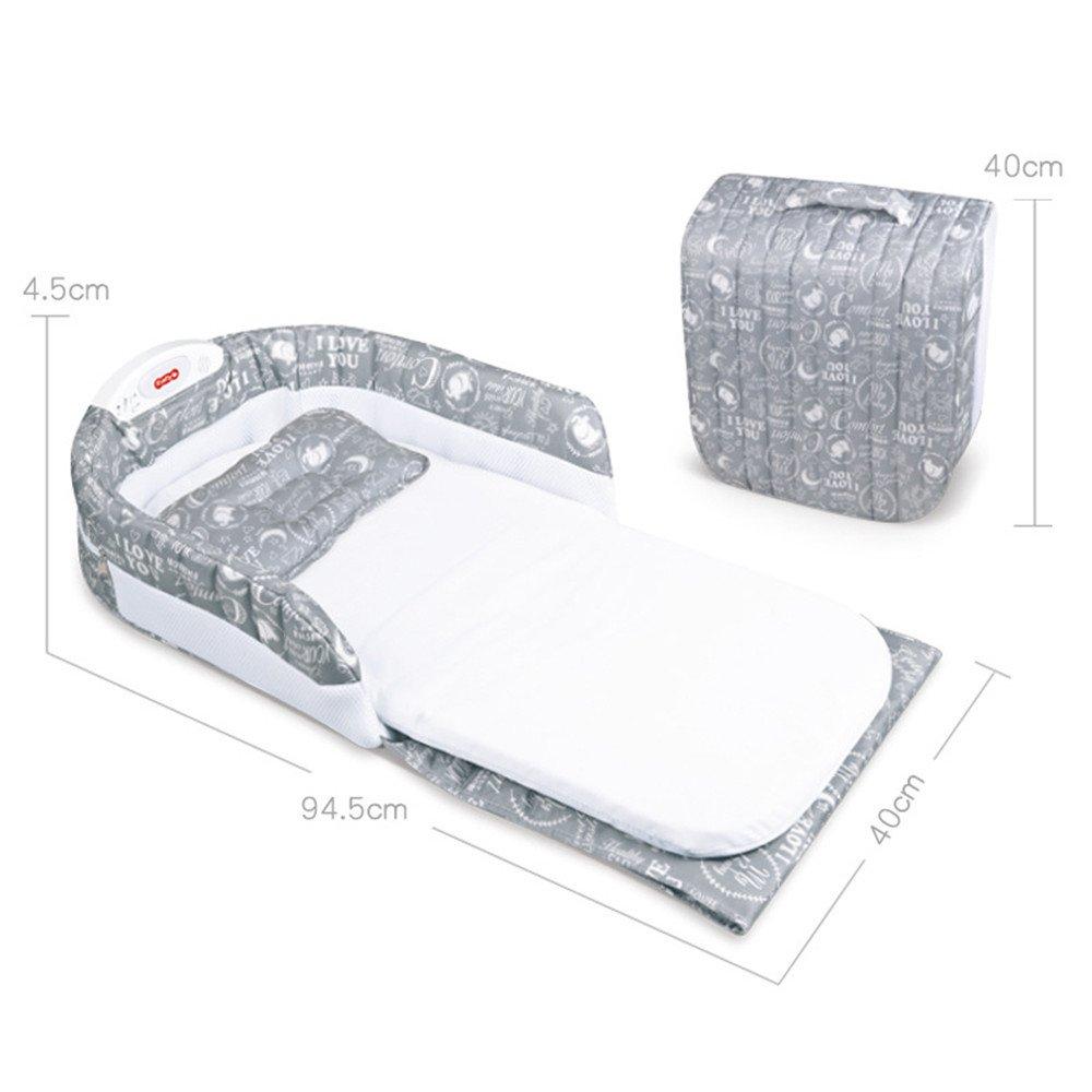 DYHQQ Portable Crib Multifunction Folding Game Bed Newborn Folding Travel Bed