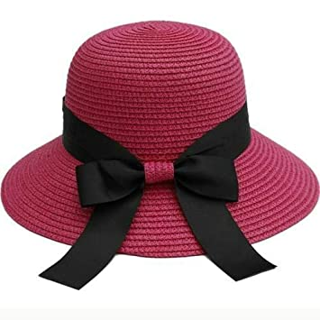 WNWZHWHR-Sun Hat Gorros de Lazo Negros Grandes para Mujer Gorros ...