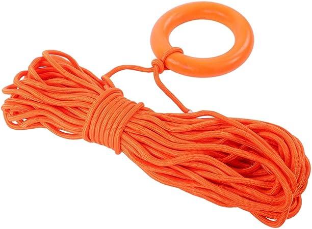 VGEBY1 Cuerda de Escalada, Cuerda de Alta Resistencia Flotante de 30 m de Cuerda Salvavidas para Rescate de Ayuda de Emergencia al Aire Libre